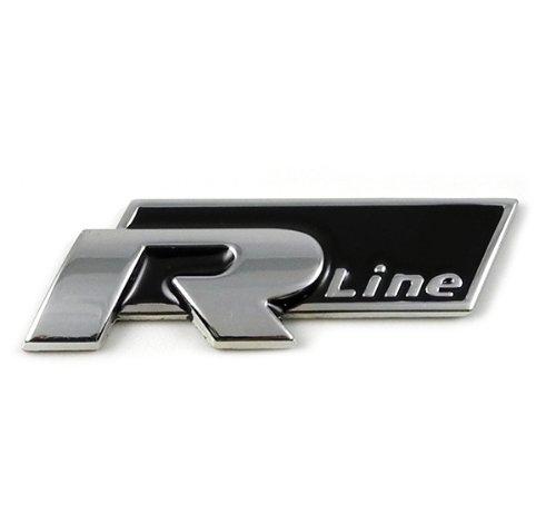 GUMP Qualität VW R Line Badge chrom Finish schwarz massivem Metall schwere Pflicht für alle VOLKSWAGEN
