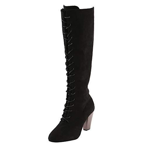 Winterschuhe Damen Winter Stiefel Xinantime Damen Ankle Boot Schuhe Wildleder Kurze Stiefel Blocked Heels Schuhe Arbeiten Im Freien Komfortable Rutschfeste 35-43