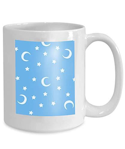 mug coffee tea cup blue moon stars sky print moons background Positive 110z Blue Moon Coffee