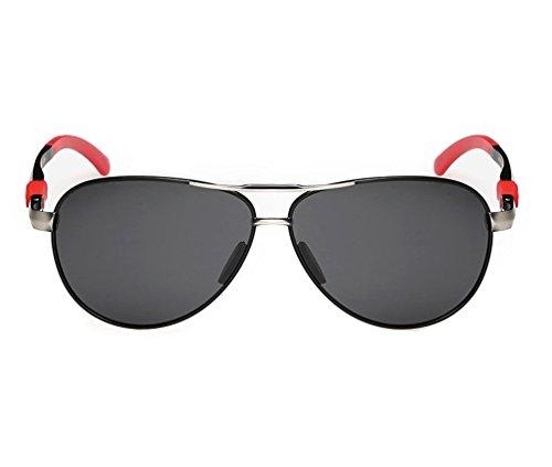 Tansle Herren Sonnenbrille Schwarz Rot/Schwarz