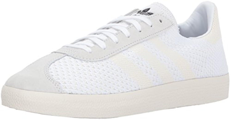 adidas gazelle primeknit originaux blanc blanche / hommes blanche blanc / blanche chaussures hommes nous occas ionnels 8 ,5 4bd599