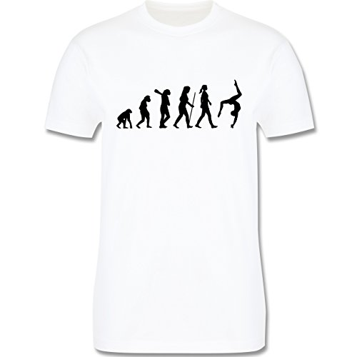 Evolution - Turnen Evolution - Herren Premium T-Shirt Weiß