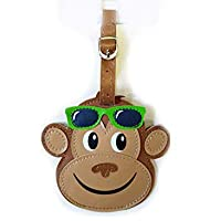 Cute Bright Animal Luggage Tags Practical Kids Travel Accessory in Frog, Dog, Monkey Or Penguin Design