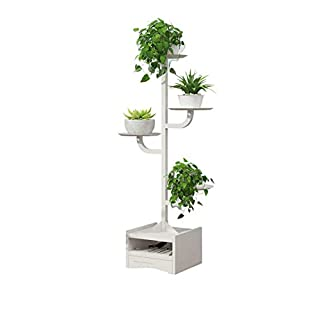 Seven stars Kreativer Blumen-Standmehrschichtiger Innenwohnzimmer-Balkon-Schmiedeeisen-Baum-förmige Landung Multi-Korn grüner Stiel-hängendes Orchideen-Regal-Blumen-Stand