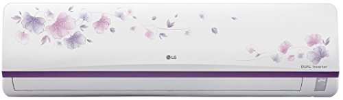 LG 1 Ton 3 Star Inverter Split AC (Copper, JS-Q12FUXD, White Floral)