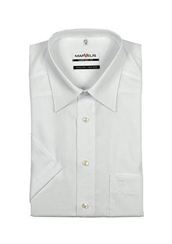 Marvelis - Comfort Fit - Herren Kurzarm Hemd in Weiß mit Kent Kragen, Bügelfrei (7970/12) Weiß (00)