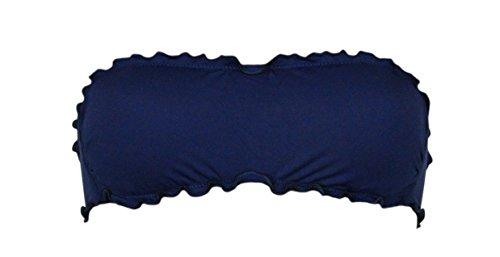 Bikini a fascia Bikinicolors Made in Italy con slip o brasiliana Donna Mare Navy (Blue scuro)