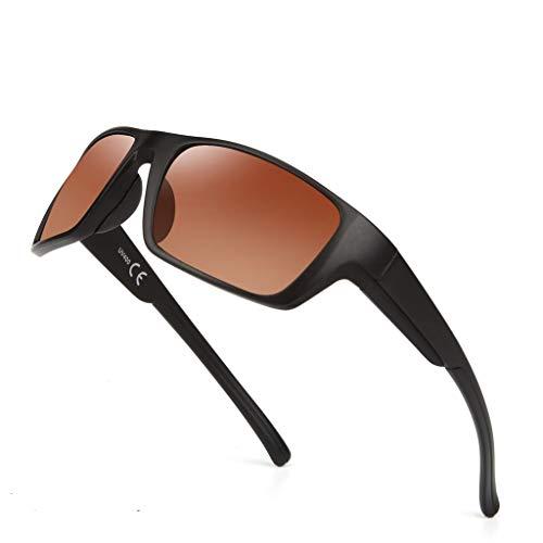 Polarisierte Sport-Sonnenbrille für Männer Frauen, Sonnenbrille Fahren, Rahmen Baseball Radfahren Laufen Angeln Golf Fahren Brille UV40-Schutz Fahrräder Brillen/Radfahren, Klettern, Sport (E)
