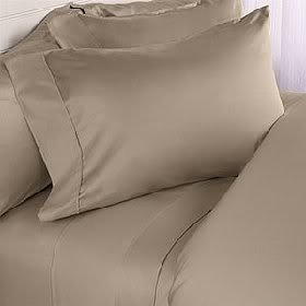 1200 Thread Count Egyptian Cotton 1200TC Sheet Set, Super King , Taupe Solid ( Deep Pocket )