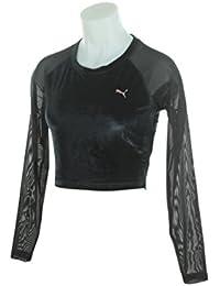 Puma Womens Explosive Long Sleeve Velvet Crop Top 516560-01