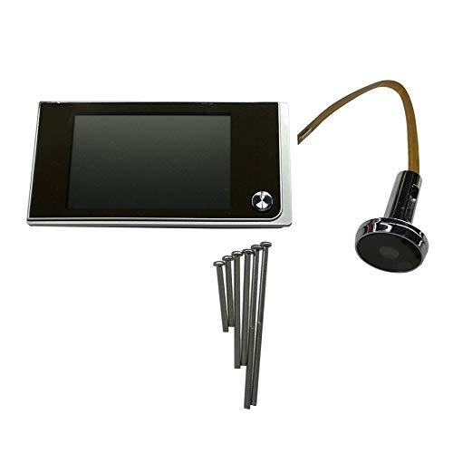Peanutaod Multifuncional Seguridad para EL hogar 3.5 pulgadas LCD Color Digital TFT Puerta de la Memoria Visera Mirilla Timbre Cámara de seguridad (Camaras Para Exteriores)