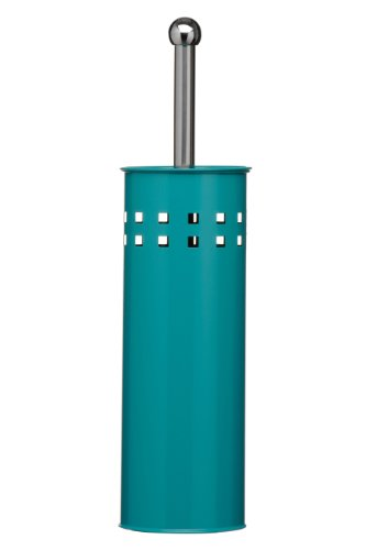 premier housewares square design toilet brush and holder 38 x 10 x 10 cm turquoise - Teal Bathroom Accessories Uk