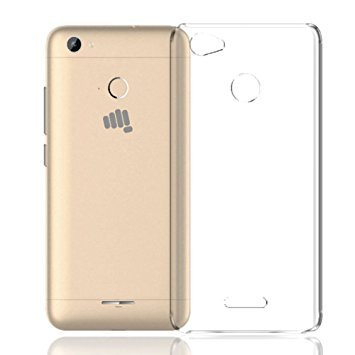 M.G.R.J [ Micromax Canvas Unite 4 Pro Q465 ] Ultra Thin 0.3mm Clear Transparent Flexible Soft TPU Slim Back Case Cover  available at amazon for Rs.129