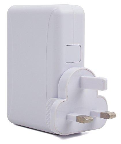 DURAGADGET Vierfaches USB-Ladegerät für England Großbritannien UK Irland. Geeignet für Lamax Drive S5 Navi+ | RAC 05 + 04 + 07S DashCam | Garmin Dash Cam 55 PKW-Videokamera