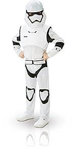Star Wars - Disfraz de Villain Trooper Deluxe para niños, M (7/8 años) (Rubie