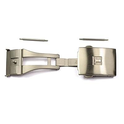 Hebilla desplegable titanio satinado para correas Tissot T640015936