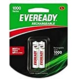 Monu Eveready Rechargeable AA Battery, 02 Pieces Pack, White (1000 Series, BP4 700 NIMH)