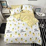 VClife Leichte Baumwolle Bettwäsche Sets 3PCS Bettbezug Sets für Erwachsene Geometrische Muster Tröster, baumwolle, Style 5, Full/Queen -