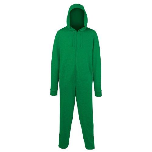 Comfy Co - Grenouillère à capuche - Adulte unisexe Vert