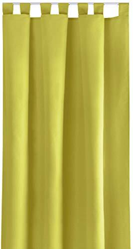 Bestlivings Blickdichte Gardine mit Schlaufen (140x145 cm/Grün), in Vielen Variationen