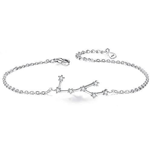 ette 925 Sterling Silber Cubic Zirconia 12 Sternbilder Sternzeichen Horoskop ''Jungfrau'' Armband Armkette ()