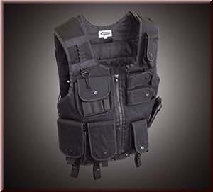 SWAT Weste mit Pistolenholster Schwarz, Gr.L