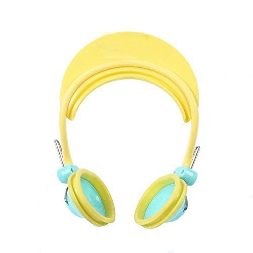 Ogquaton wasserdichte Kunststoff-Ohrkappen Gehörschutz Gehörschutzabdeckung Ohrenschützer für Haarfärbemittel Bad ShowerBaby-Dusche wasserdichte Ohrstöpsel gelb 1 Packung Langlebig und nützlich