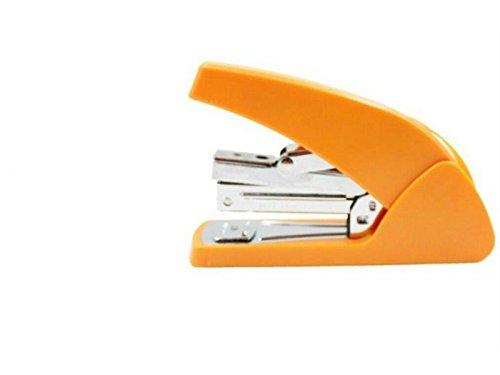 Creative tragbar Colorful Wunderschöne kleine Größe Heftgerät Office Stationery labor-saving Heften Maschine (orange) Schulbedarf