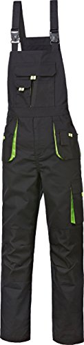 Kinder-Latzhose Kinder-Arbeitslatzhose Canvas-Power 270 schwarz-grün Größe 98-164 (110/116)