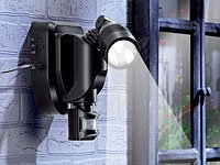 Lunartec Solar-Single-Strahler mit PIR, 3W, schwarz von Lunartec auf Lampenhans.de