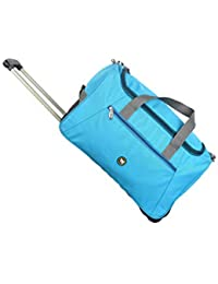 3G Red 25.4cms Polyester Duffle Bag With Trolley Combo