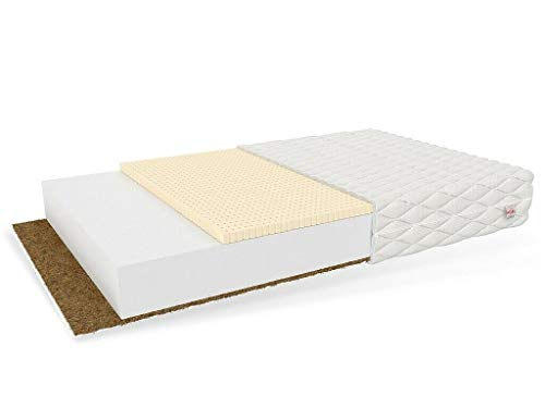 80x160 PIKOLO Kinderbettmatratze Polyurethanschaum mit Kokos und Latex Babymatratze Kindermatratze
