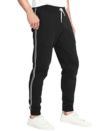 c59086ce6a8354 MODCHOK Herren Sporthosen Jogginghosen Track Pants Freizeithosen mit  Streifen Sweat Pants Lang 1 Schwarz S