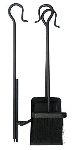 3Mr. Bar-B-Q teilig Feuerstelle Werkzeug-Set, schwarz (Grill-tools Mr)