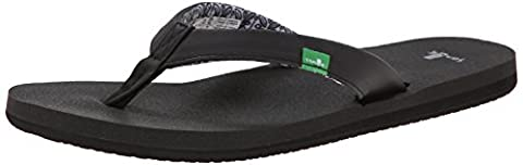 Sanuk Women's Yoga Zen Flip Flop, Black, 6 M US