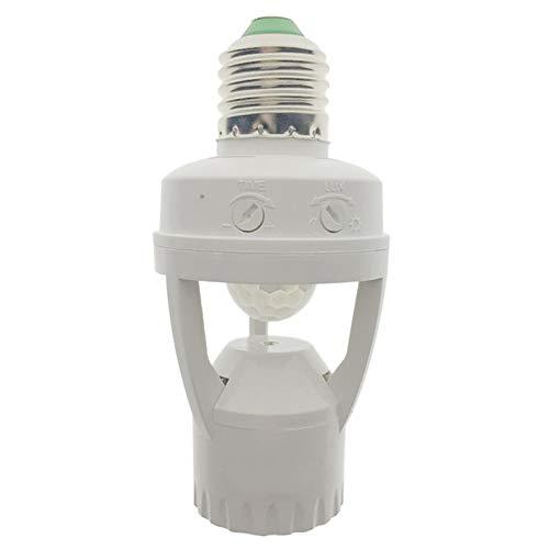 SODIAL Ac 110-220 V 360 Grad Pir Induktions Bewegungs Sensor Infrarot Menschlicher K?rper E27 Steck Dose Schalter Basis LED Lampen Fassung (220v Bewegungs-sensors)