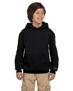Champion Boys Big Boys' Powerblend Eco Fleece Pullover Hoodie, Black, - Fleece-stoff Ocean