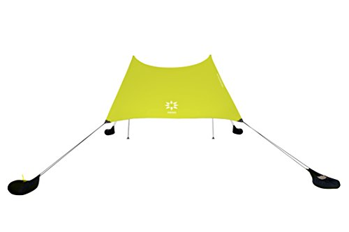 Neso Zelte Grande Beach Zelt, 2,1 m Hoch, 2,8 m (9 ft) x 2,8 m (9 ft), Verstärkte Ecken und Kühlfach (Zitrone) (Ft 9 Sonnenschirm)