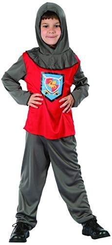KULTFAKTOR GmbH Ritter Kinder Kostüm grau-rot 122/134 (7-9 ()
