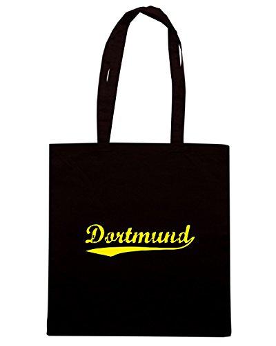T-Shirtshock - Borsa Shopping TSTEM0216 vintage dortmund black Nero