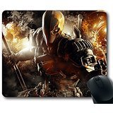 Custom Attractive Mouse Pad with Batman Arkham Origins Deathstroke Warner Bros Games Montreal Dc Comics Arkham Origins Video Games Non-Slip Neoprene Rubber Standard Size 9 Inch(220mm) X 7 Inch(180mm) X 1/8 Inch(3mm) Desktop Mousepad Laptop Mousepads Comfortable Computer Mouse Mat