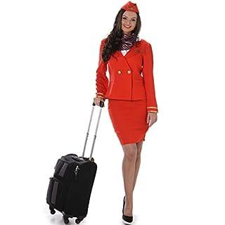 Generique - Stewardess Kostüm für Damen in rot XS