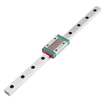 Length: 500mm Zerone Miniatur Linear Gleitschienenf/ührungsblock 250mm 300mm 400mm 500mm 550mm