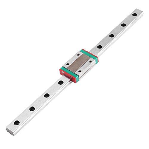 Linearschiene,Jectse 250mm 300mm 400mm 500mm 550mm Metall Miniatur Linearschiene Führungsschiene Linear Schiebe Gide mit Gleitblock(500mm)