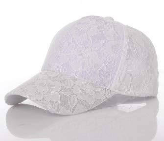 QYYDBQM Frauen Baseballmützen Lace Sun Hats Atmungsaktiver Mesh-Hut Sommermütze für Frauen White White-mesh-hut