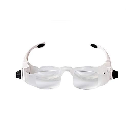 YMM Lupe Lupenbrille 1.5X 3.8X Vergrößrungglas Lesevergrößerungsglas Hände Frei Kopfband Senioren Lesen Inspektion verzerrungsfreie mit ergonomischem Griff für Kinder,Erwachsene,Hobbyisten,Profis