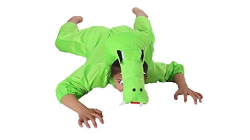 Bambini costumi animali ragazzi ragazze unisex pigiama fancy dress outfit cosplay bambini onesies (coccodrillo, xl (per bambini 120- 140 cm di altezza))