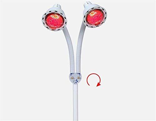 Eeayyygch 2 Kopf Infrarot Wärme Lampe Thermo Therapie Schmerzlinderung Behandlung Flexible & Verstellbarer Kopf (275w) (Farbe : -, Größe : -)