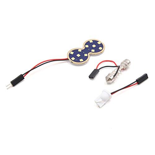 Lumière de Toit Blanche pour Panneau de Tableau de Bord de Voiture à 12 LED avec Adaptateur intérieur pour feston T10 W5W