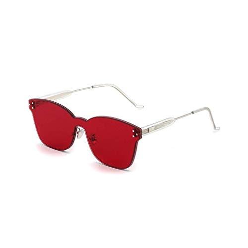 JFFFFWI Damen Sonnenbrille Polarized Lens 100 Prozent UV-Schutz (Farbe: Rot)